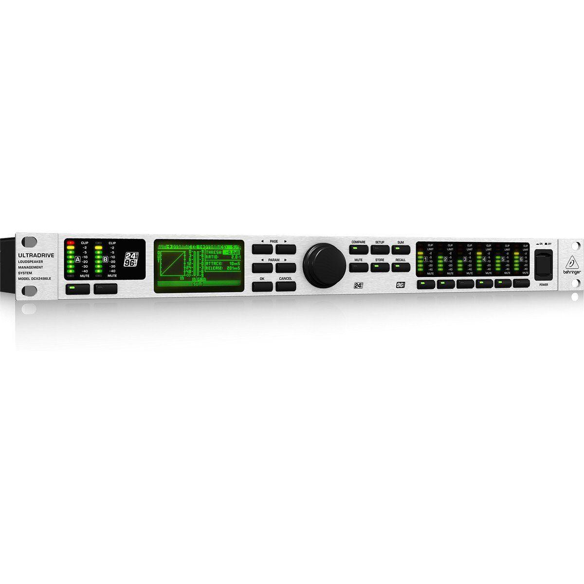 Behringer DCX2496LE UltraDrive Processador Behringer DCX2496LE Ultra-Drive