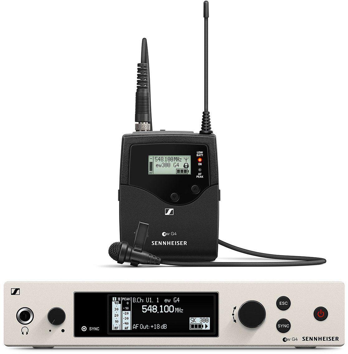 Sennheiser EW 300 G4 ME2 RC Seistema sem fio EW 300 G4-ME2-RC com microfone de lapela