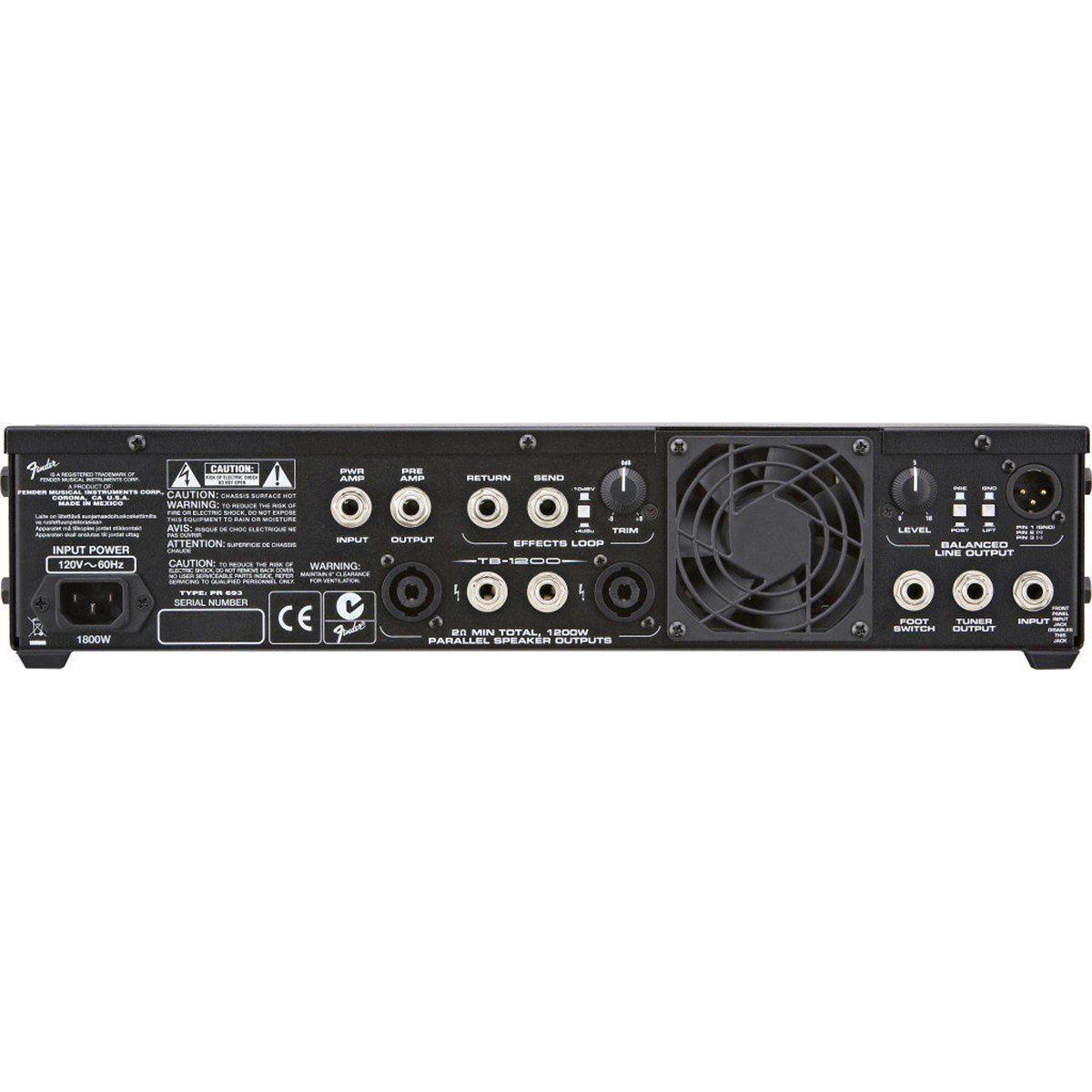 Fender Bass TB1200 Amplificador Ideal para Baixo para Estúdio ou Palco