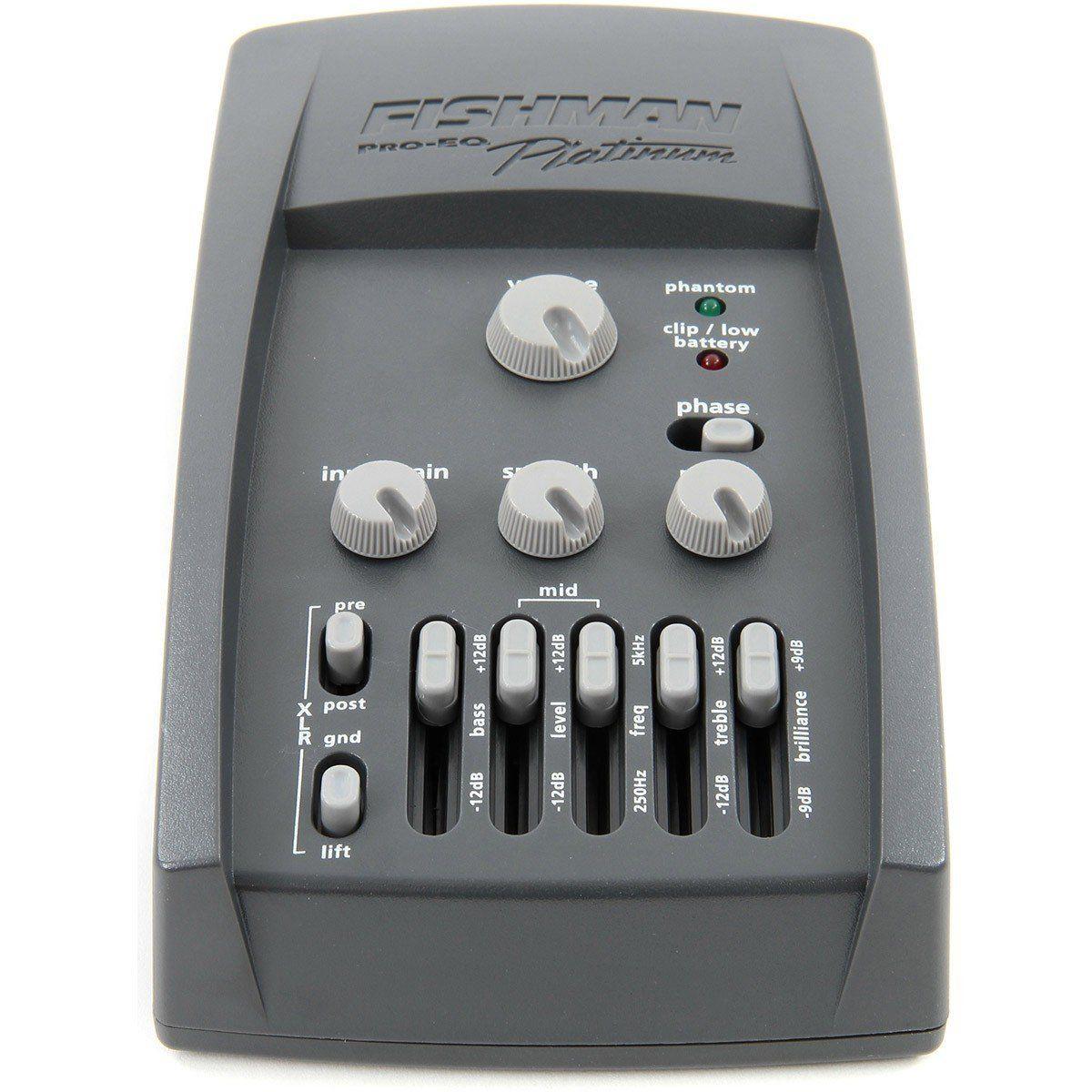 Fishman PLT 101 PRO-EQ Platinum Pré-Amplificador para Guitarra Acústica