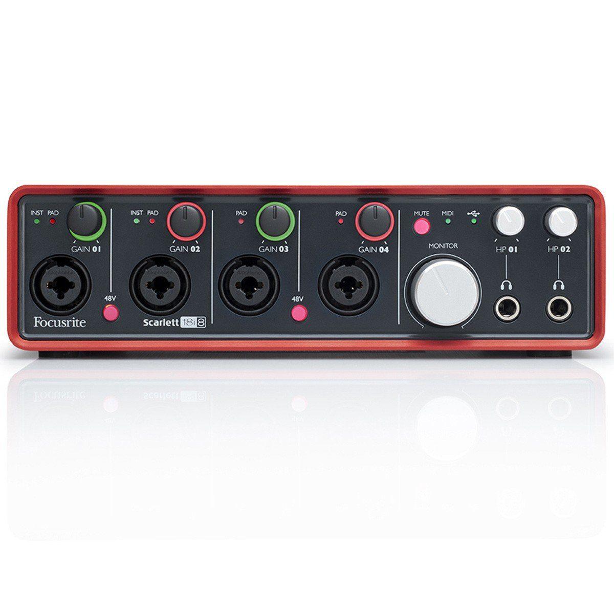 Focusrite Scarlett 18i8 Interface de Áudio Scarlett 18 I 8 Usb 18x8 Midi 4-Preamp