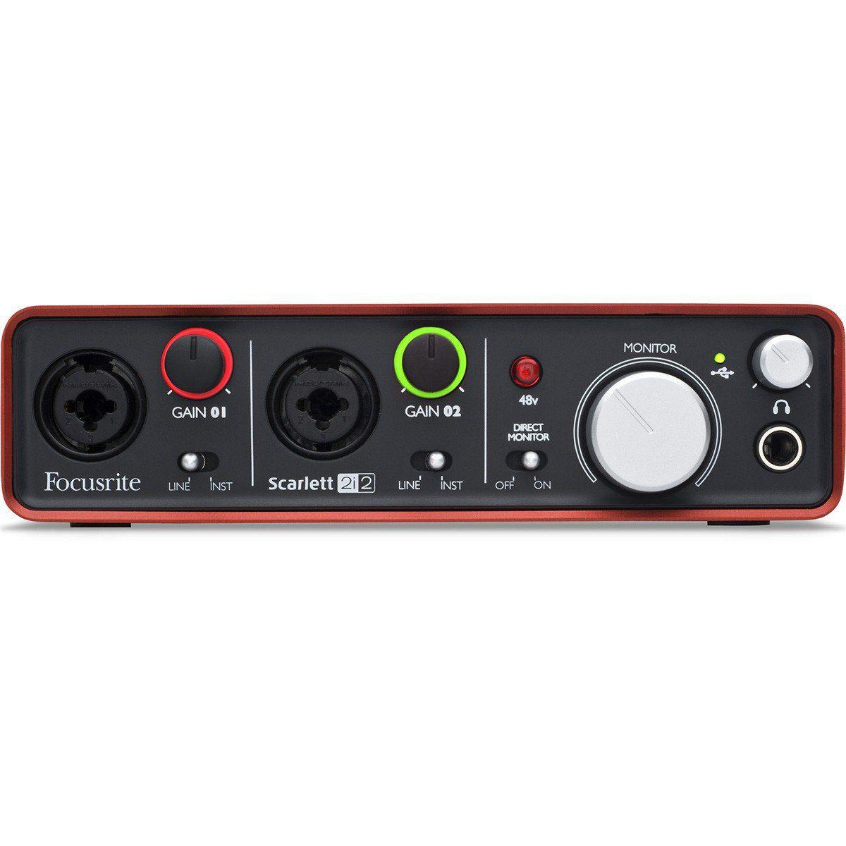 Focusrite Scarlett 2i2 Interface de Audio  Scarlett 2 i 2 Usb 2x2 Midi Ableton Live