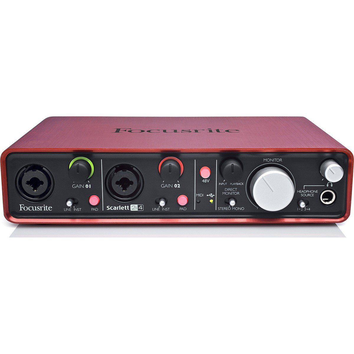 Focusrite Scarlett 2i4 Interface de Audio Scarlett 2 i 4 Usb 2x4 Mac Windows 192-Khz