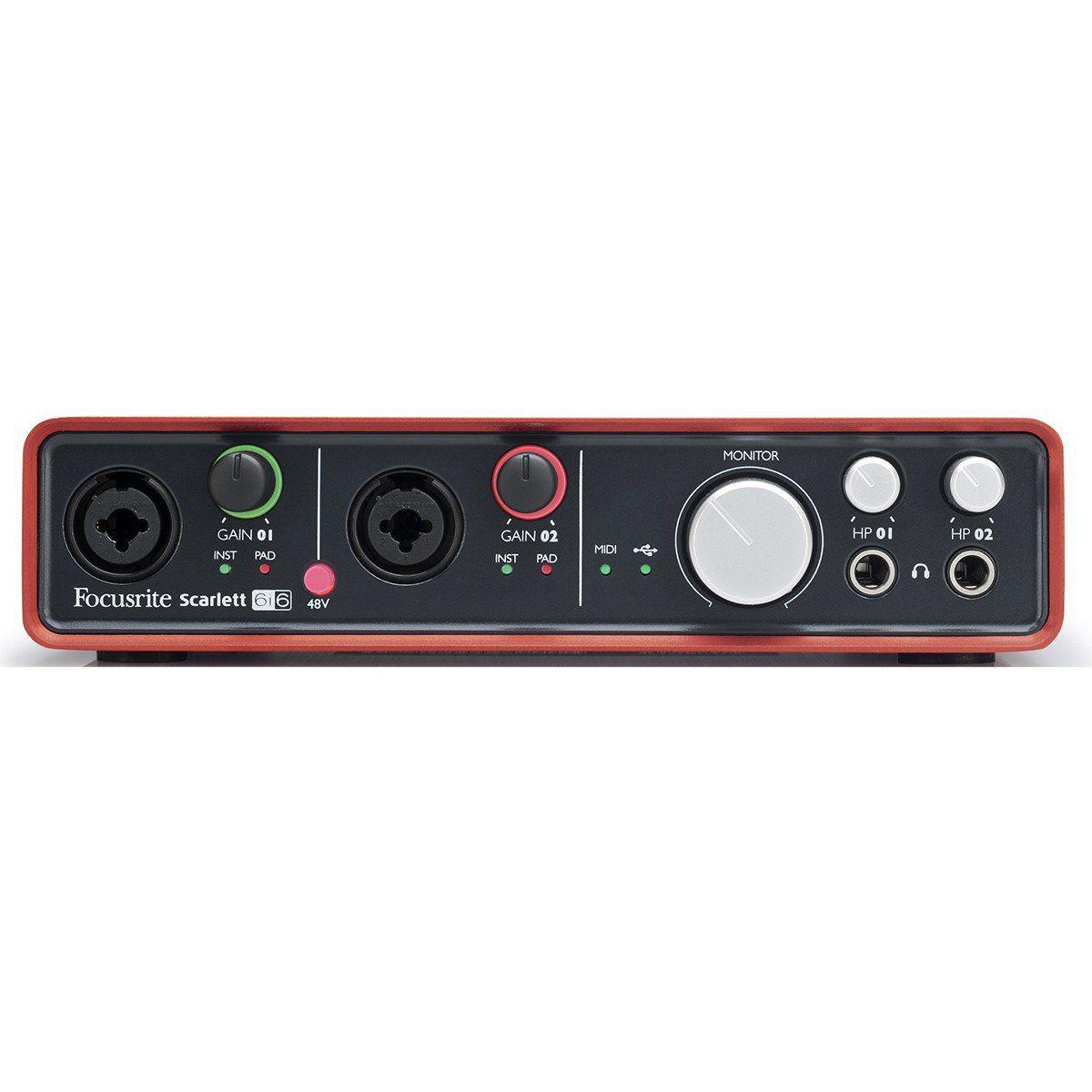 Focusrite Scarlett 6i6 Interface de Audio Scarlett 6 I 6 Usb 6x6 24-Bit 96-Khz Pc Mac