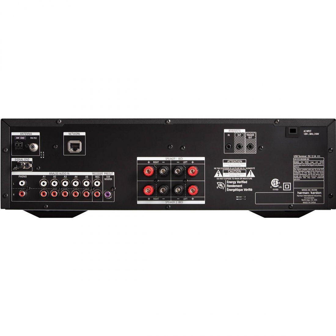 Harman Kardon HK-3700 Receptor Estéreo Receiver para Sistema de Áudio Doméstico