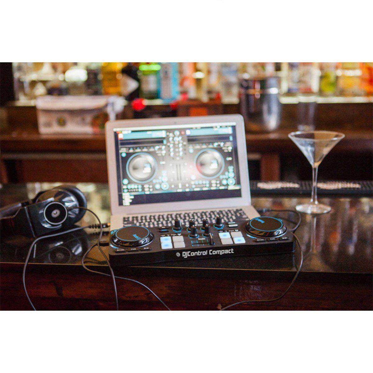 Hercules DJ Control Compact Controladora Dj Iniciante 2-Decks Usb
