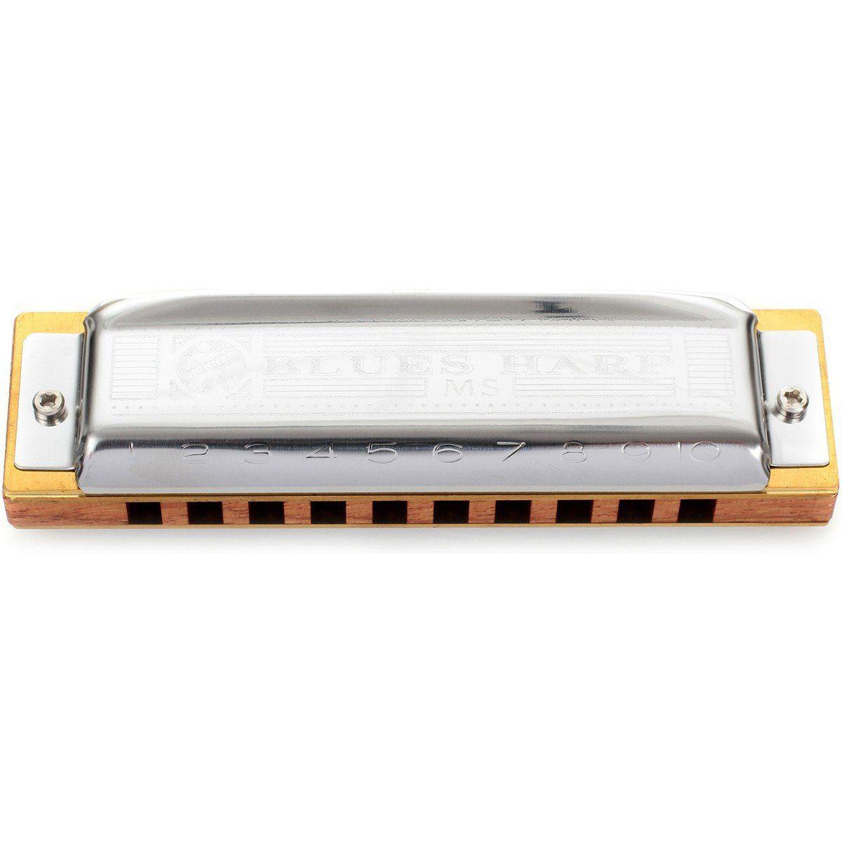 Hohner Blues Harp 532/20 Ms Gaita Harmônica Ideal para Iniciantes e Intermediários