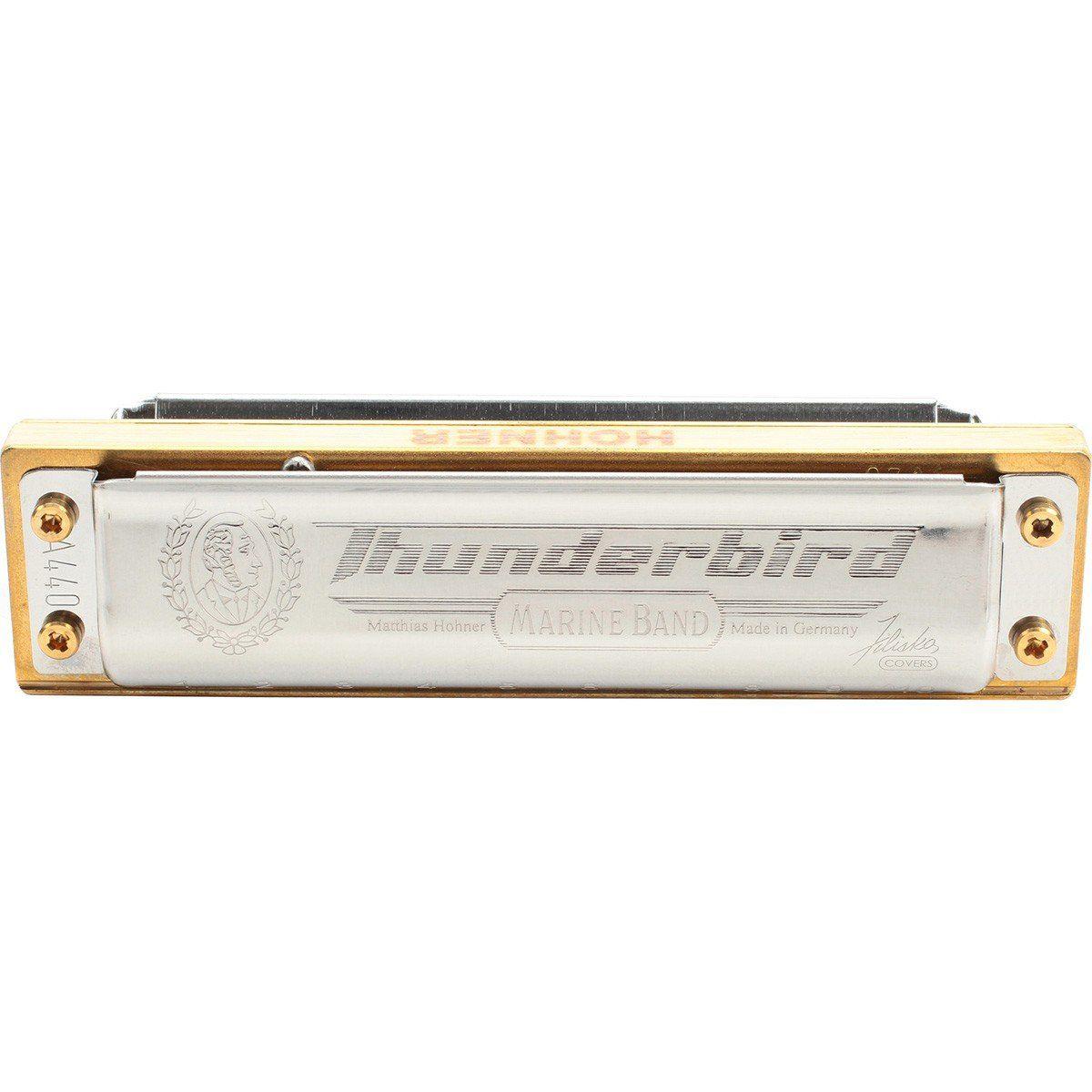 Hohner Marine Band ThunderBird Gaita Harmônica Alta Resposta de Grave e Volume
