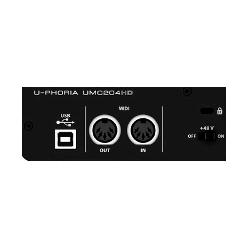 Interface de Áudio  Behringer UMC 204 HD U-phoria UMC 204 HD