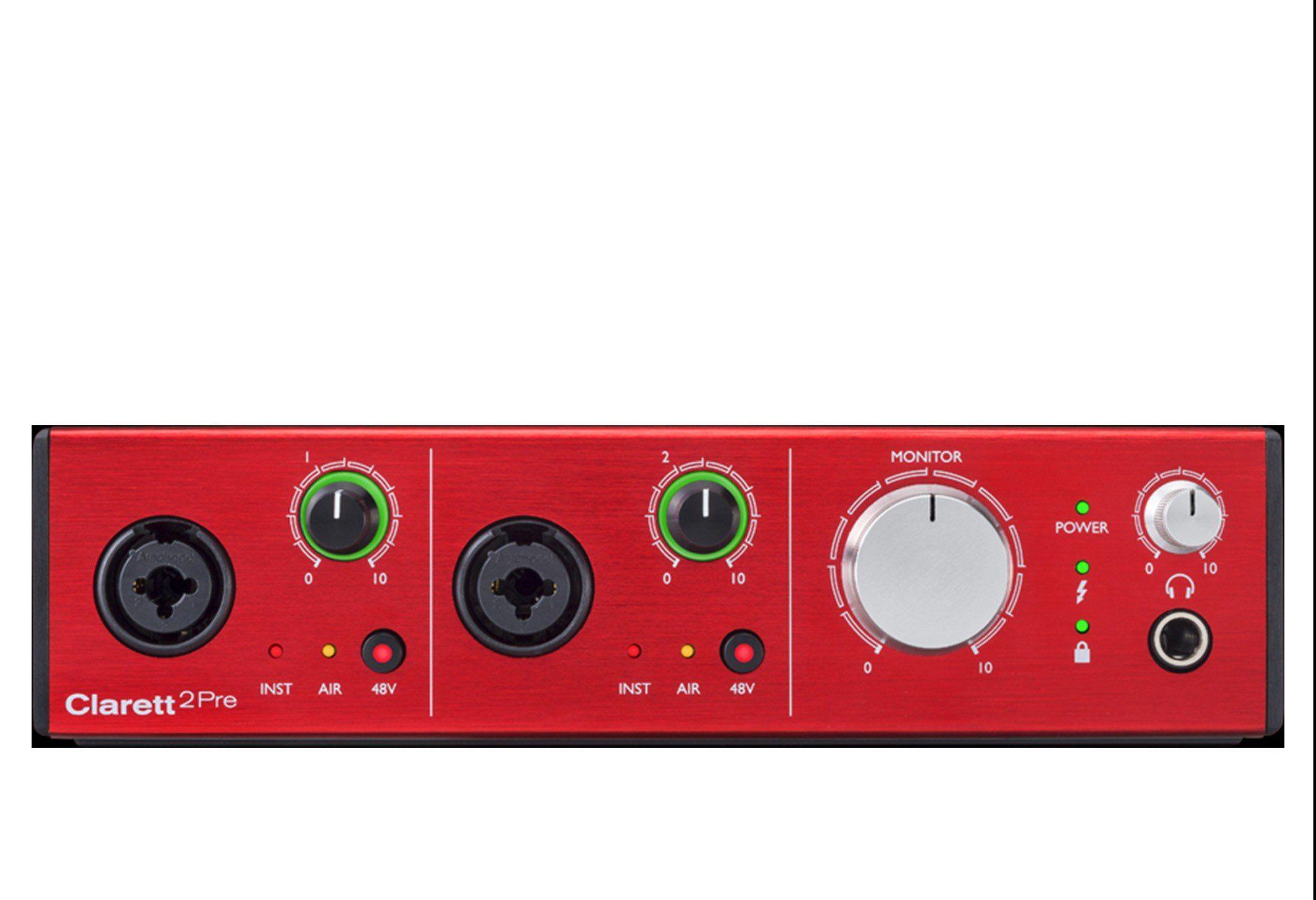 Focusrite Clarett 2Pre Interface de Áudio Clarett 2-Pre 10x4 Midi ADAT 24-Bit 194-Khz