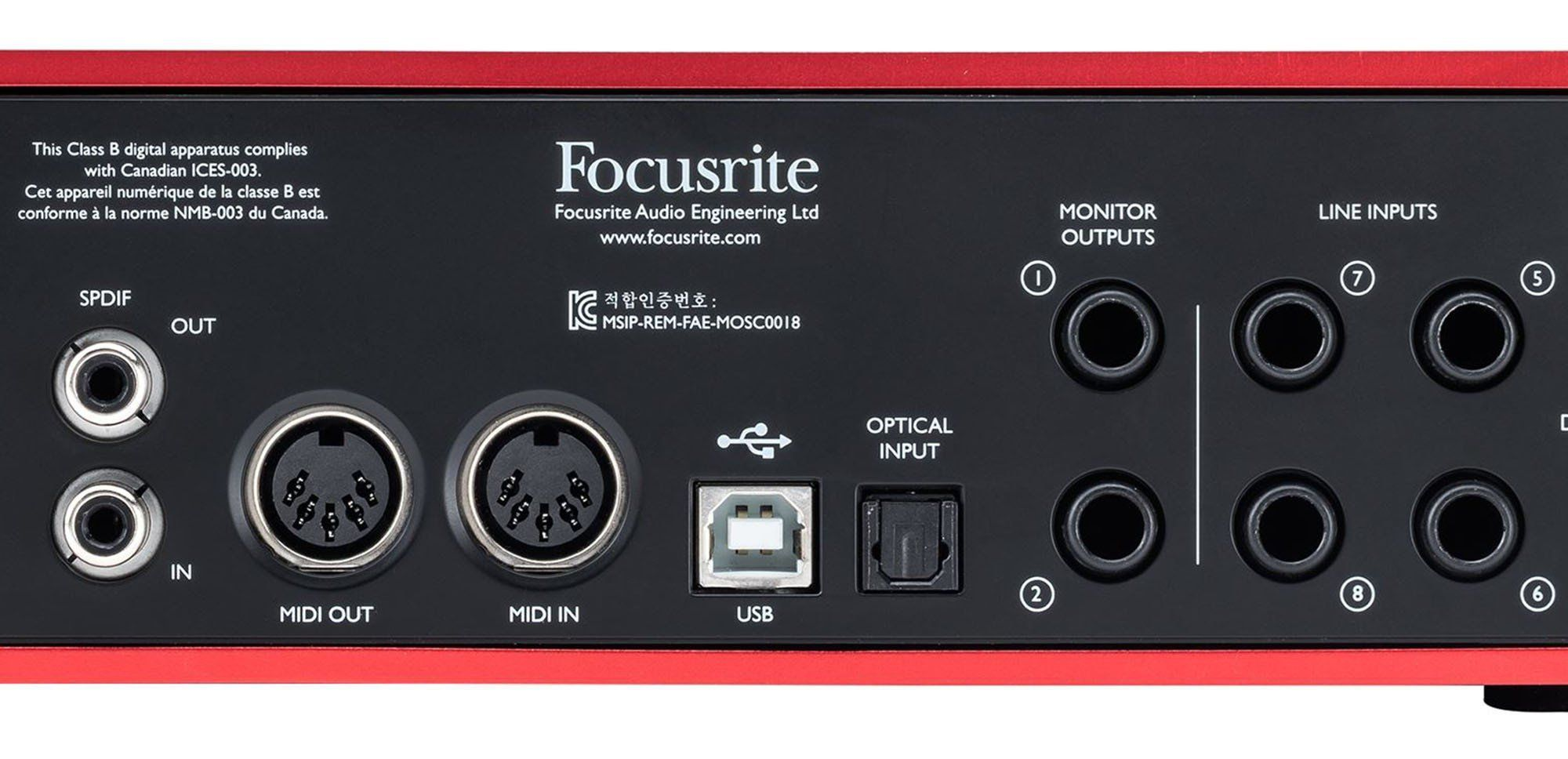 Focusrite Scarlett 18i8 2nd Interface de Áudio Scarlett 18 i 8 Usb 18x8 Midi Ableton
