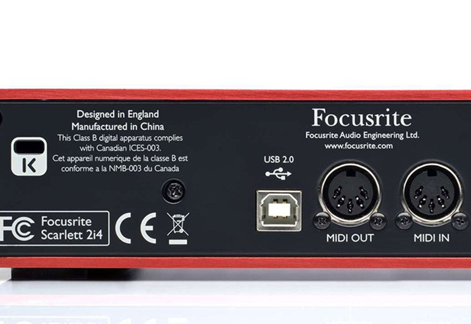 Focusrite Scarlett 2i4 2ª Geração Interface de Áudio Scarlett 2 i 4 Usb 2x4 Usb