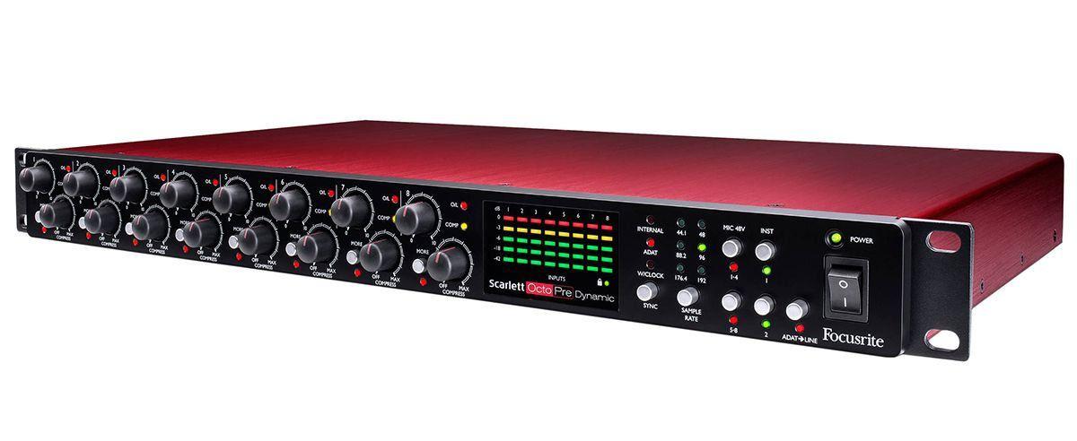 Focusrite Scarlett OctoPre Dynamic Interface de Áudio Octo Pre 8x8 Usb ADAT 192-Khz