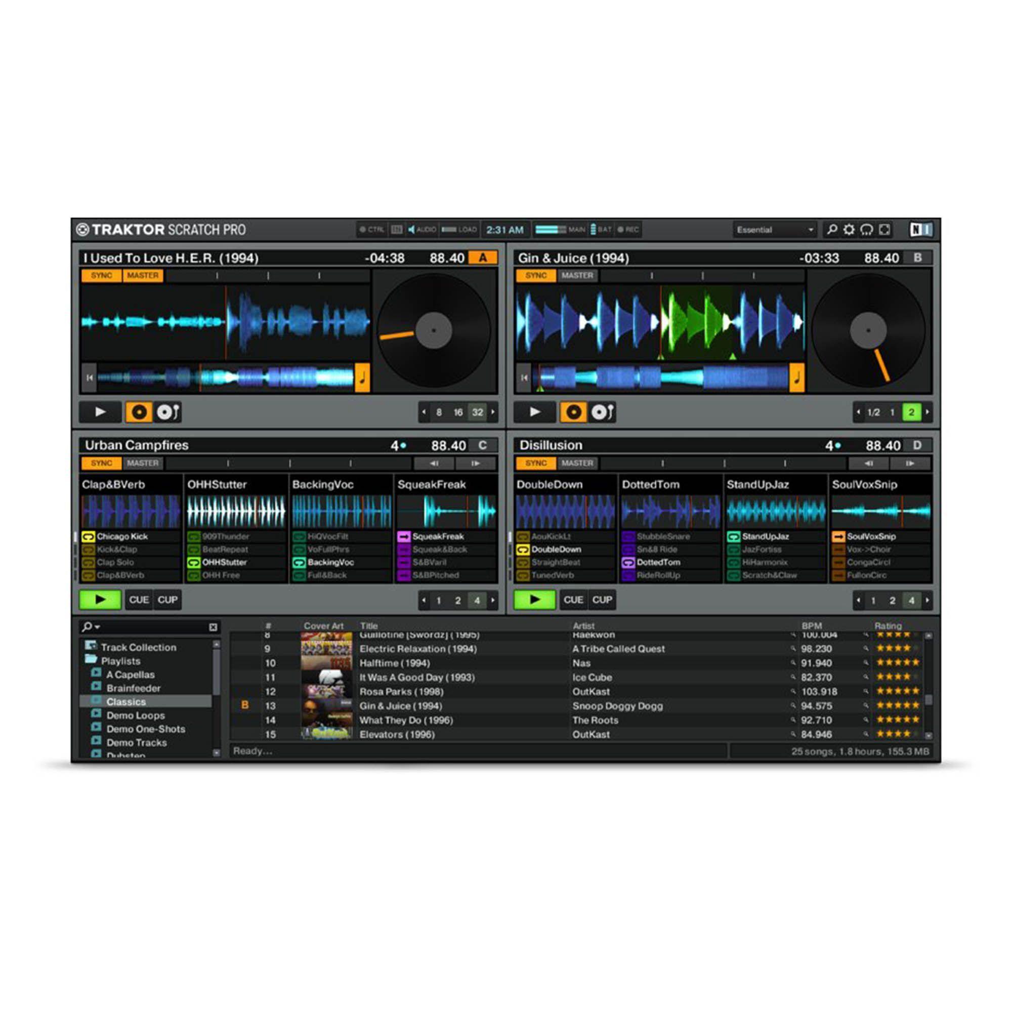 Native Instruments Traktor Scratch A10 Interface DVS Timecode