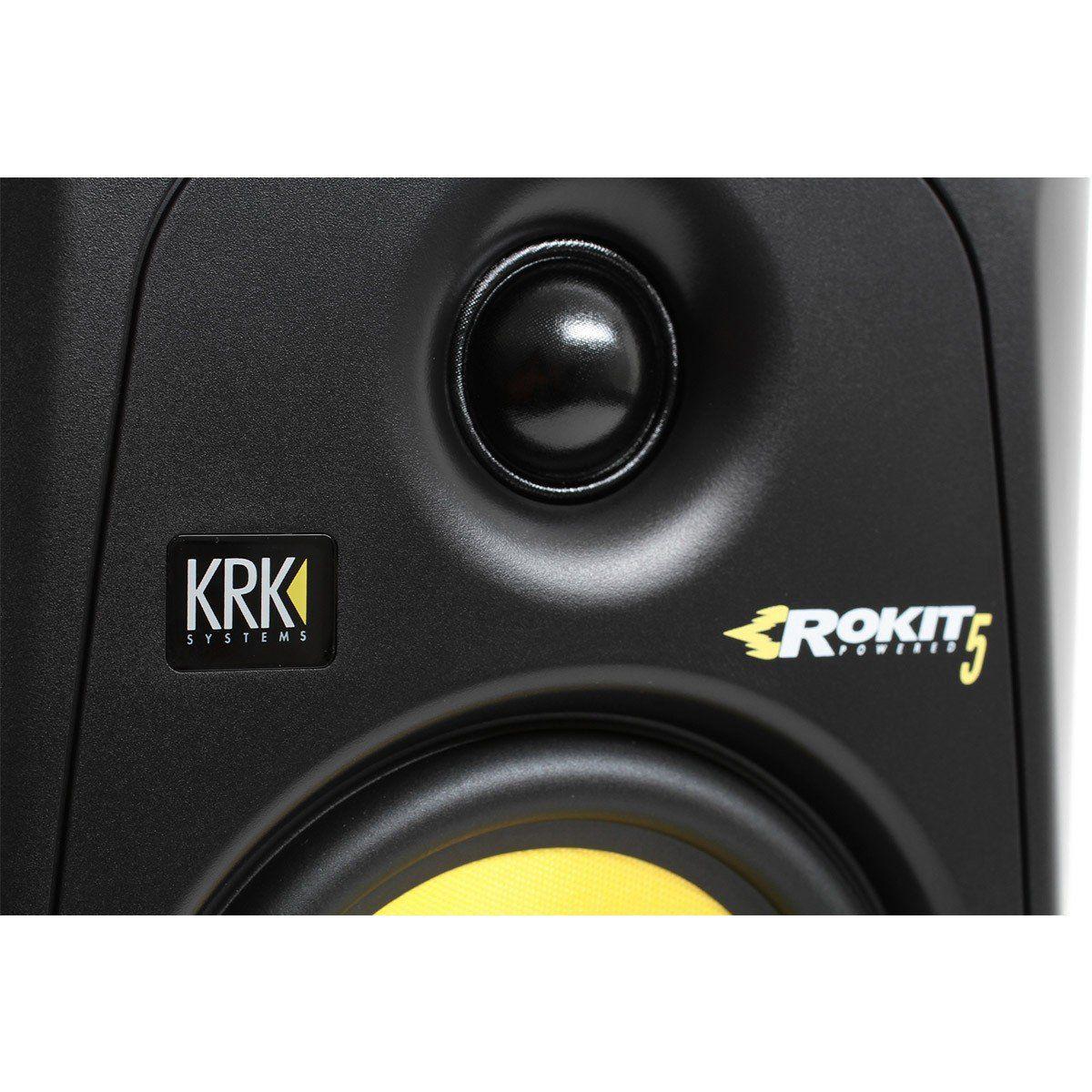 Krk RP5 G3 Rokit Monitor de Áudio Bi-amplificado Krk RP5G3-Rokit 50W de Potencia