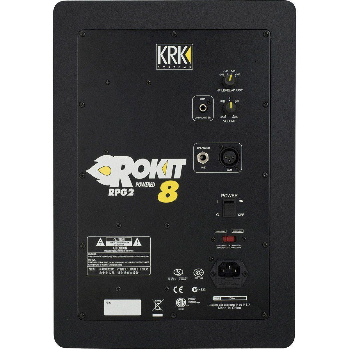 Usado - KRK RP8 G2 Rokit Powered Monitor de Áudio de Referencia para Estúdio