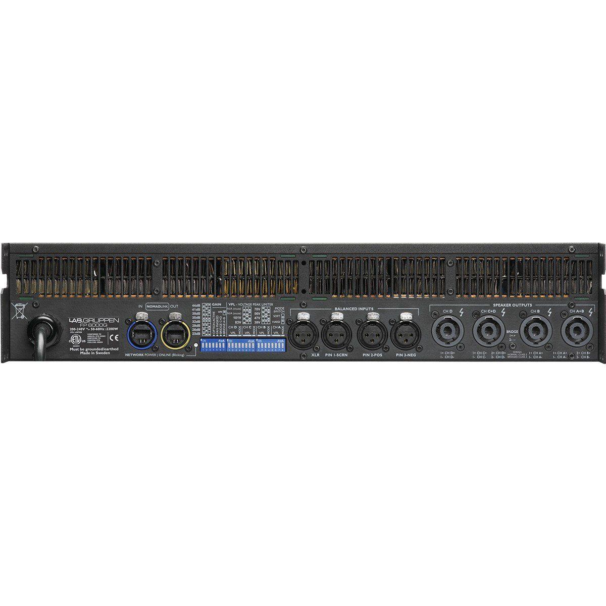 Lab Gruppen FP6000Q Amplificador Gruppen FP6000Q 4 Canais