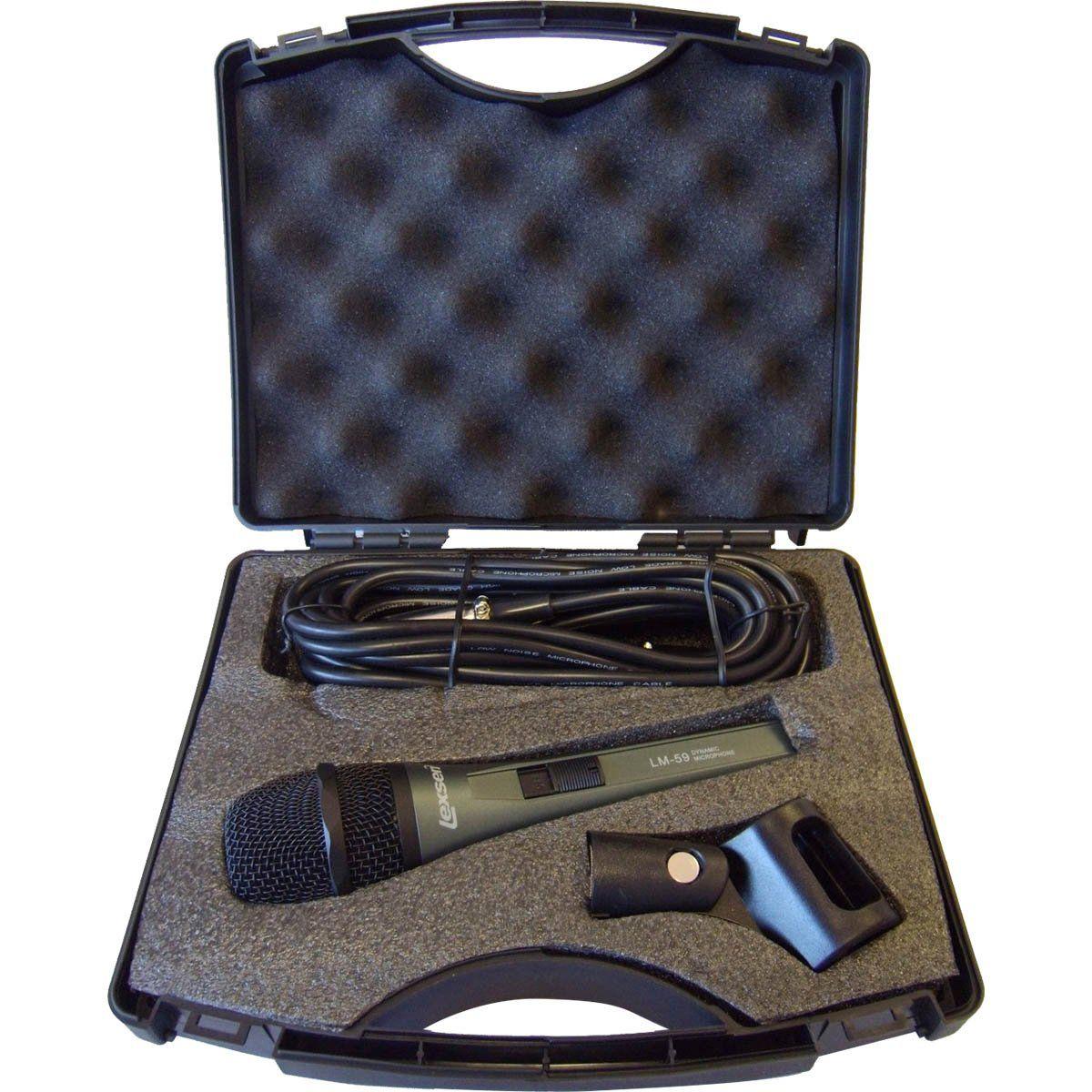 Lexsen LM 59 Microfone Cardioide Lexsen LM-59 fácil de Transportar