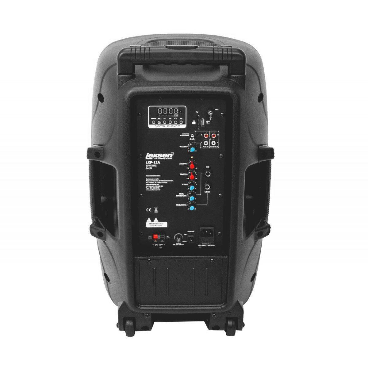 Lexsen LXP-12A Caixa de Som LXP 12-A 80w Acústica Ativa Bares E Ambientes Pequenos