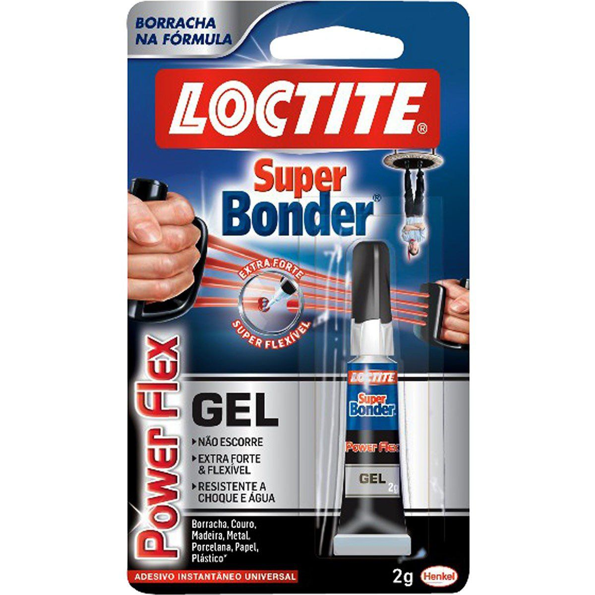 Loctite Power Flex Super Bonder Cola para Borracha Couro e Outros