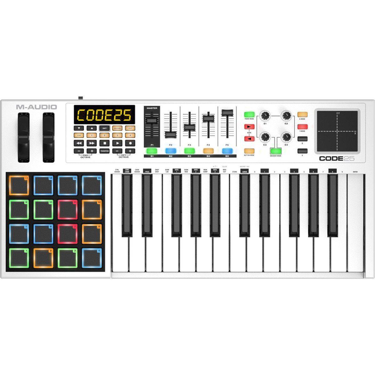 M-Audio Code 25 Controladora Midi para Produção Musical e Performances
