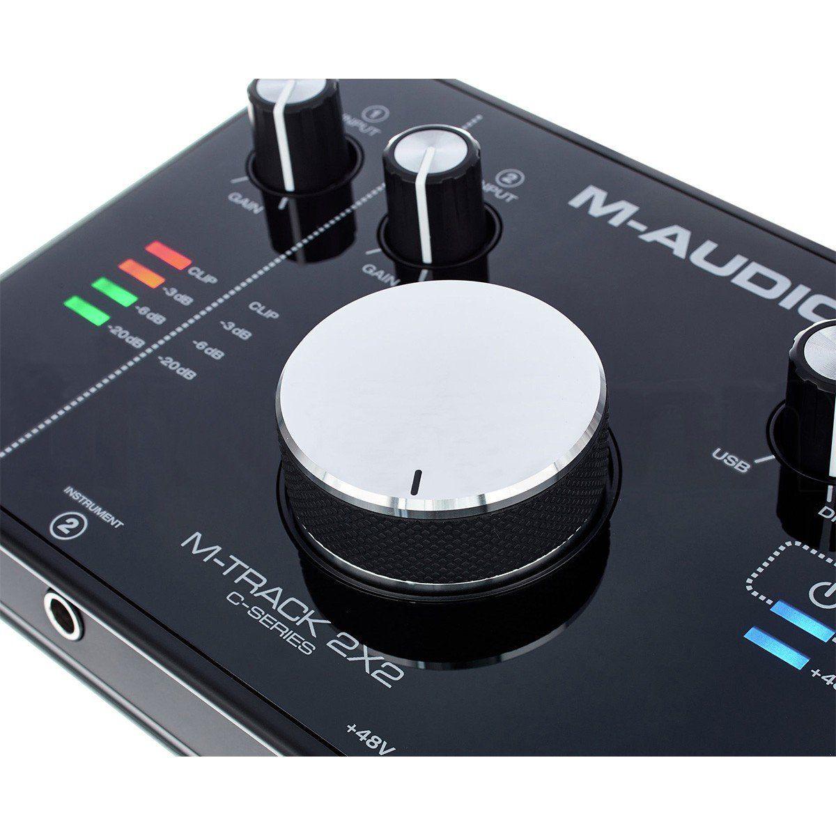 M-Audio M-Track 2x2 Interface de Audio MTrack 2 x 2 Usb 24-Bit 192-Khz Pc Mac Cubase