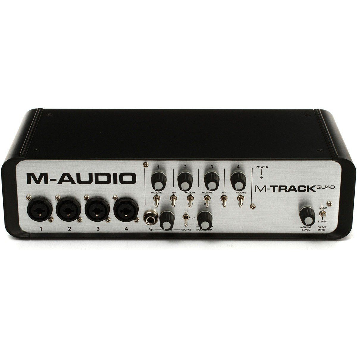 M-Audio M-Track Quad Interface de Áudio Mtrack Quad 4x4 Usb 24-Bit 96-Khz Pro Tools