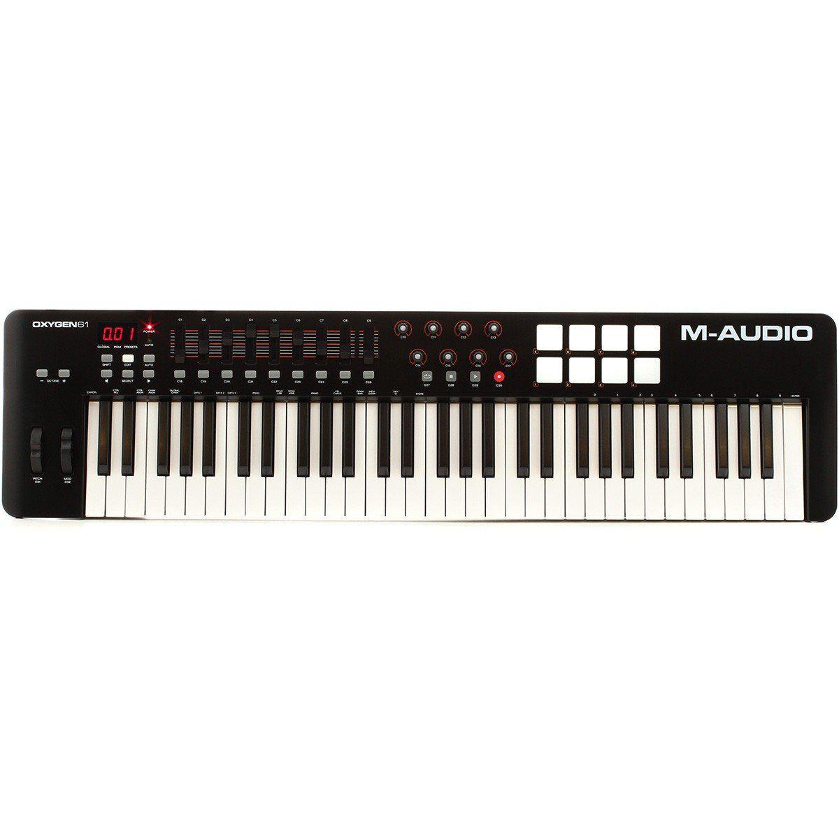 M-Audio Oxygen 61 MK IV Controladora Midi para Gravação e Produção Musical