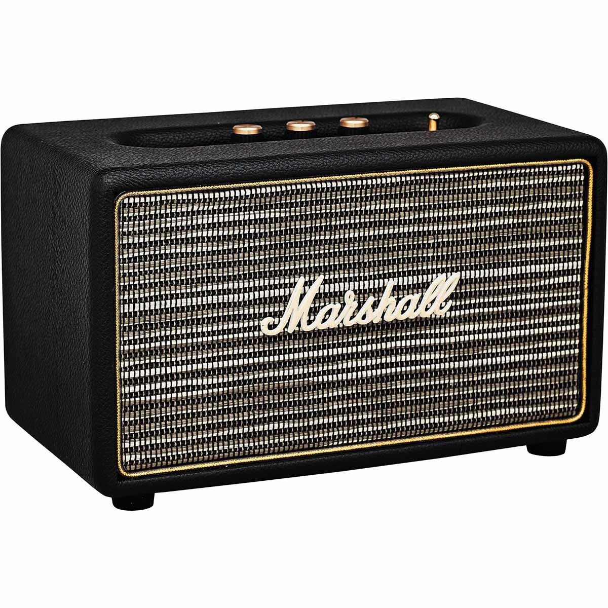 Marshall Acton Black Caixa de Som Acton-Black Ativa 41W Acústica com Bluetooth