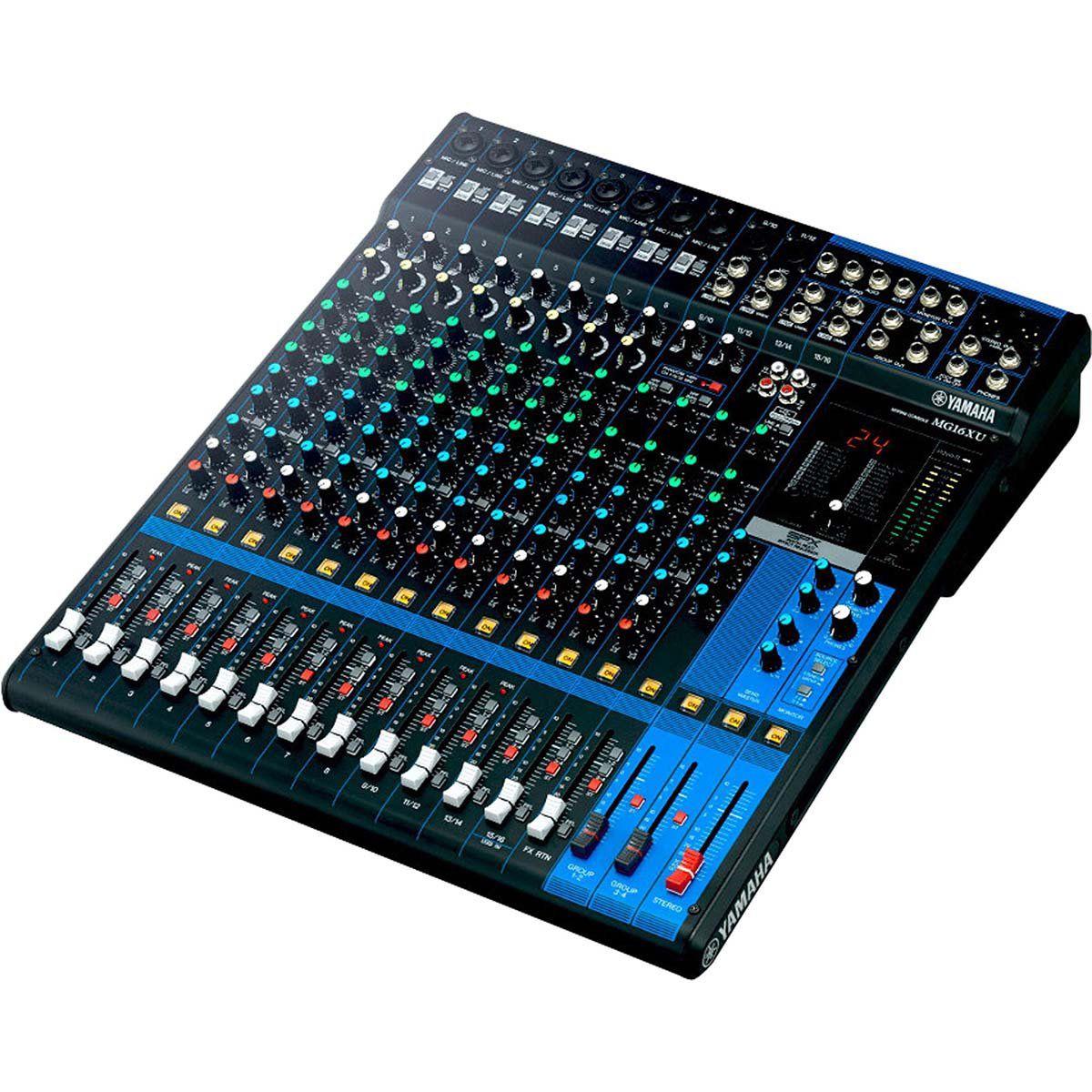 Yamaha MG16XU Mesa de Som MG-16-XU 16 Canais Analógica para Mixagem Profissional