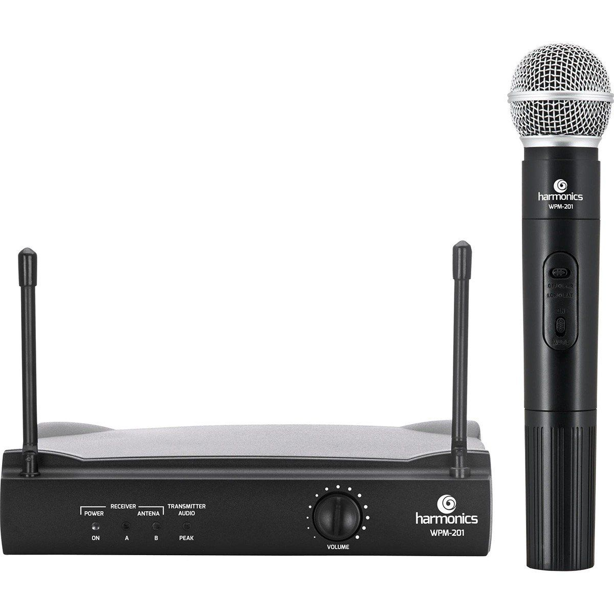 Harmonics WPM 201 Microfone Cardioide Harmonics WPM-201 Sem Fio Profissional
