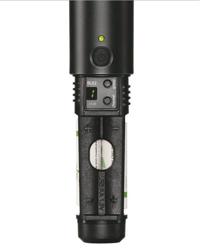 Shure BLX24R/Beta58A Microfone Sem fio Shure BLX24R/B58A para Vocais e Estúdio