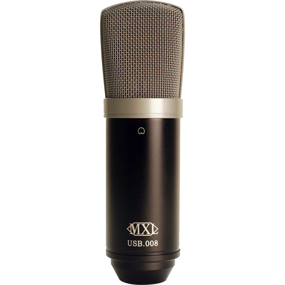 Mxl USB 008 Microfone Cardioide Condensador Mxl USB-008 para Gravação