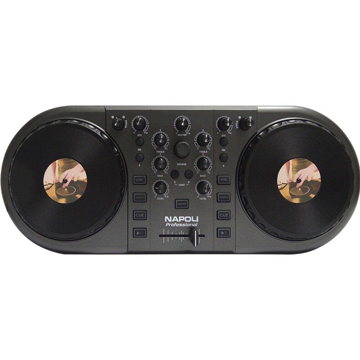 Napoli NPL-DJ Controladora Dj NPL 2-Decks para DJs Iniciantes