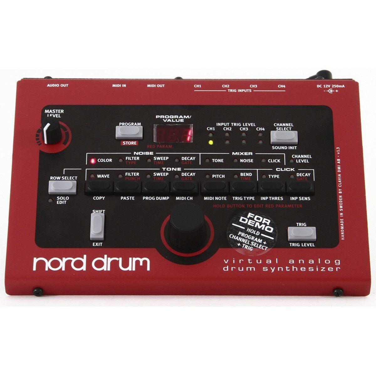 Nord Drum Midi Sintetizador Profissional Controlador para Bateria Eletrônica