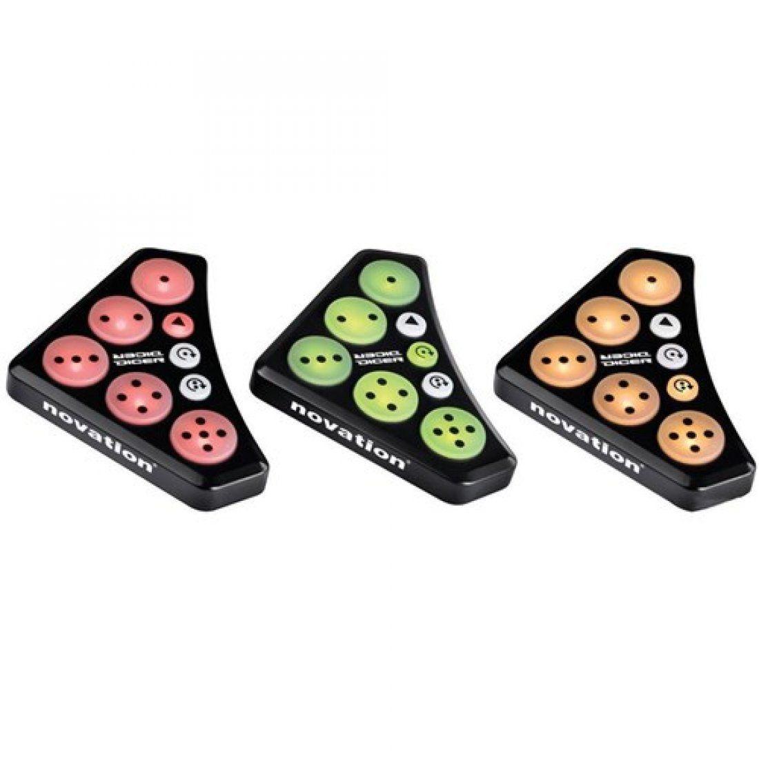 Novation Dicer Controladora Dj Pads Loop Sample Midi Encaixa em Toca-disco ou Player