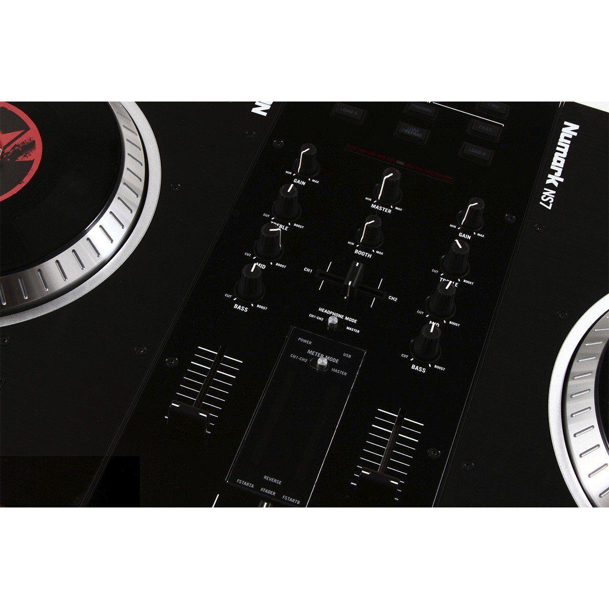 Numark NS-7 FX Controladora DJ NS7 4-Decks 4-Canais USB Serato ITCH