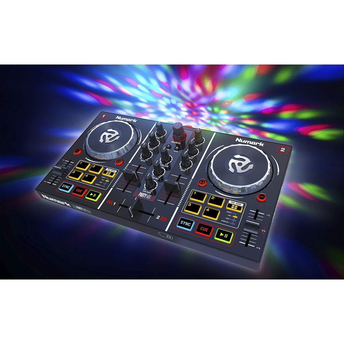 Numark Party Mix Controladora DJ Partymix 2-Decks 2-Canais Usb Leds Coloridos