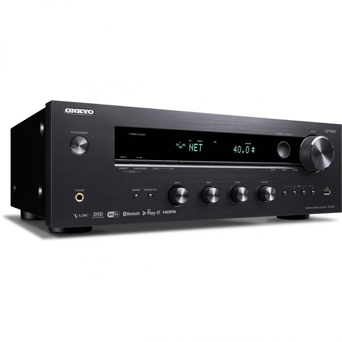Onkyo TX-8270 Receiver Estéreo HDMI Spotify Bluetooth Wireless USB