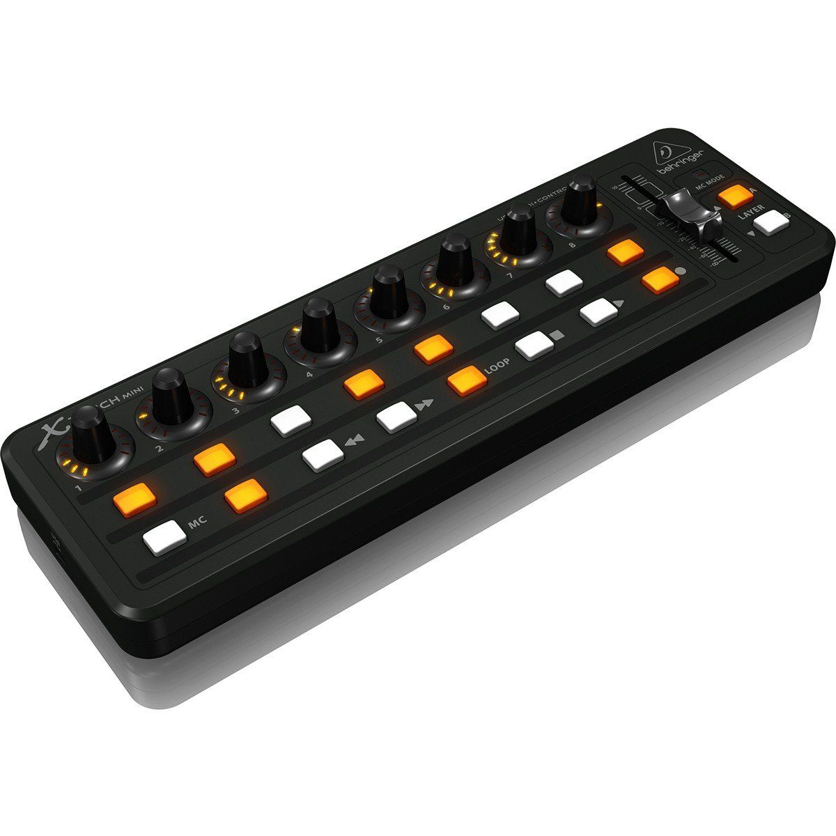 Behringer X-Touch Mini Controladora Dj 8-Knobs Produção Musical Portátil