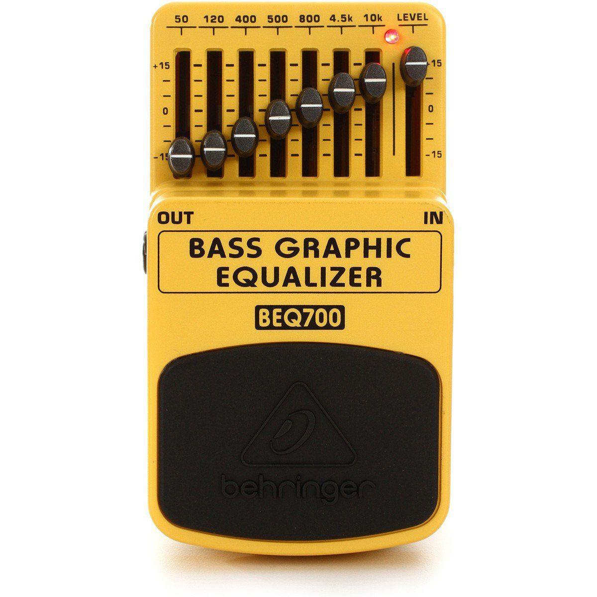 Behringer BEQ700 Bass Graphic Equalizer Pedal para Contrabaixo com Equalizador