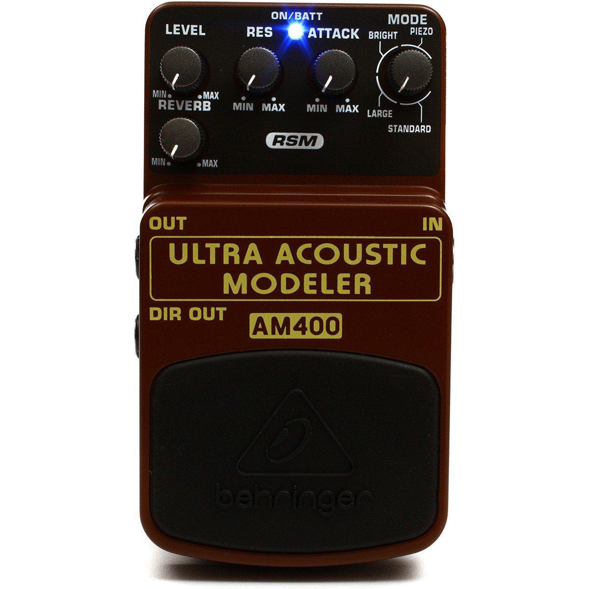 Behringer AM400 Ultra Acoustic Modeler Pedal para Guitarra