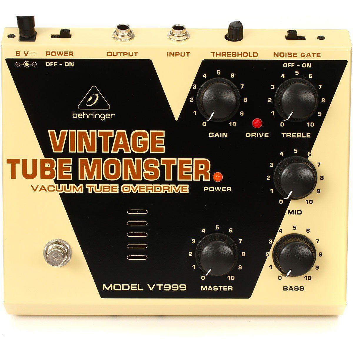 Behringer VT999 Vintage Tube Monster Pedal para Guitarra Profissional Home Studio