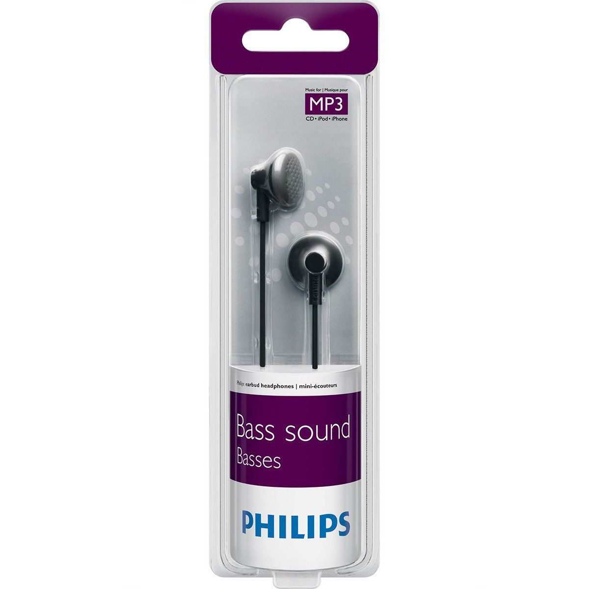 Philips SHE2000 Fone de Ouvido SHE-2000 In-Ear Emborrachado com Graves Potentes