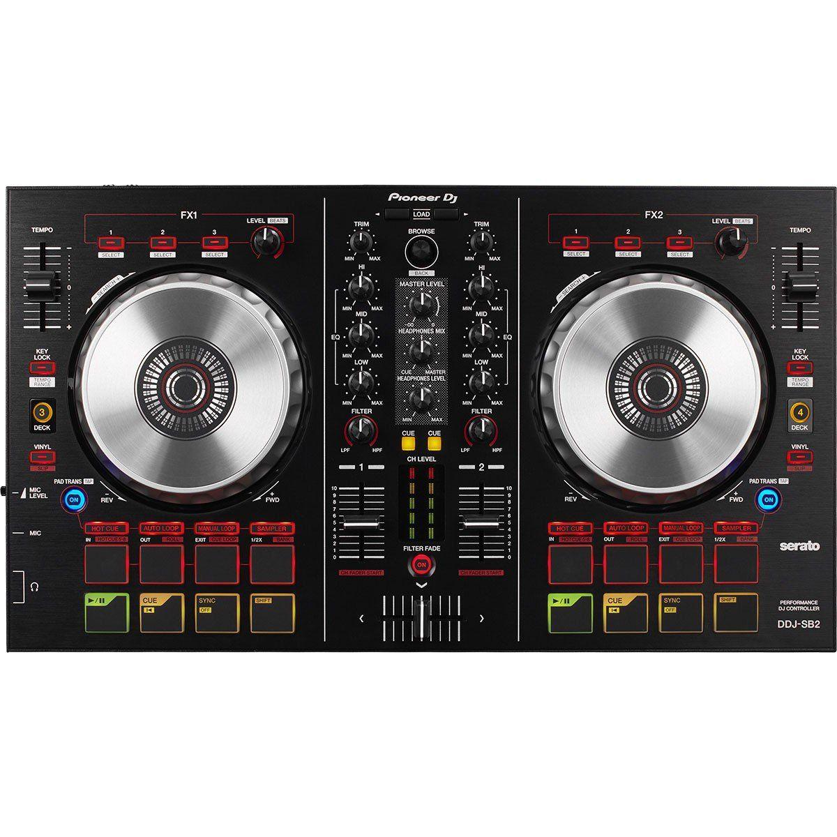 Pioneer DDJ-SB2 Controladora DJ DDJ SB2 Serato DJ Lite 2-Canais 4-Decks