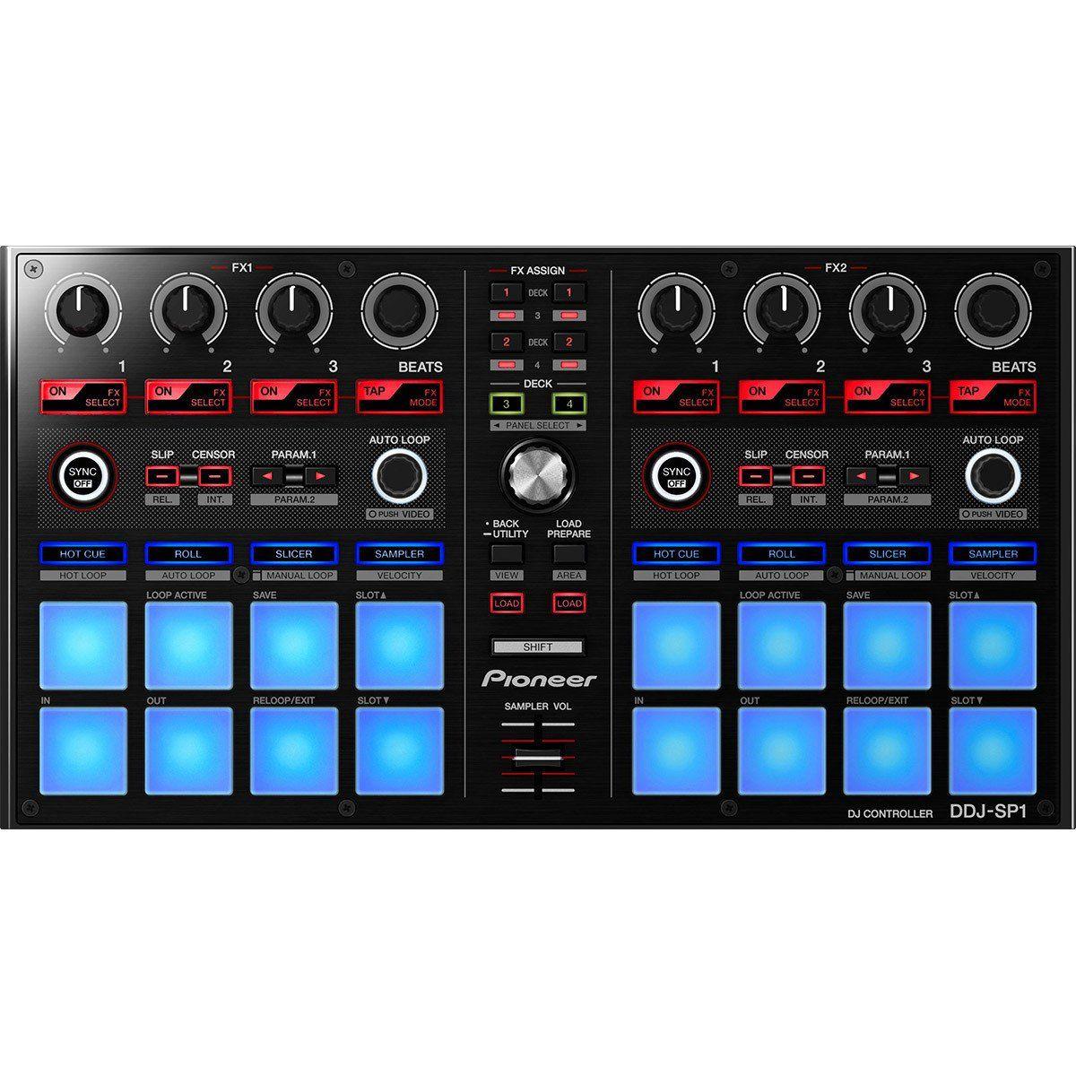 Pioneer DDJ-SP1 Controladora DJ DDJ SP1 4-Canais 2-Decks 16 Pads Serato 3 Knobs