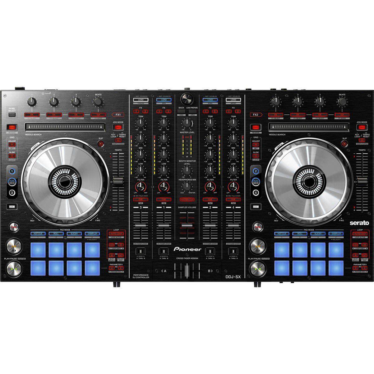 Pioneer DDJ-SX Controladora DJ DDJ SX 4-Canais 4-Decks Serato
