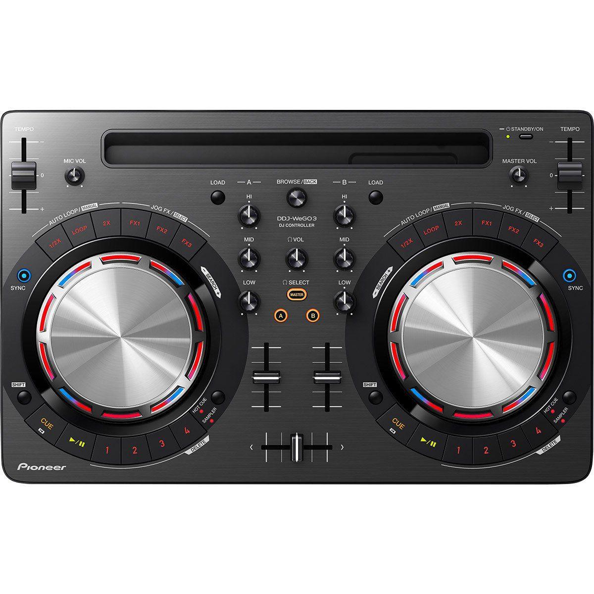 Pioneer DDJ-WEGO3 Controladora DJ DDJ WEGO3 2-Canais 2-Decks Virtual DJ