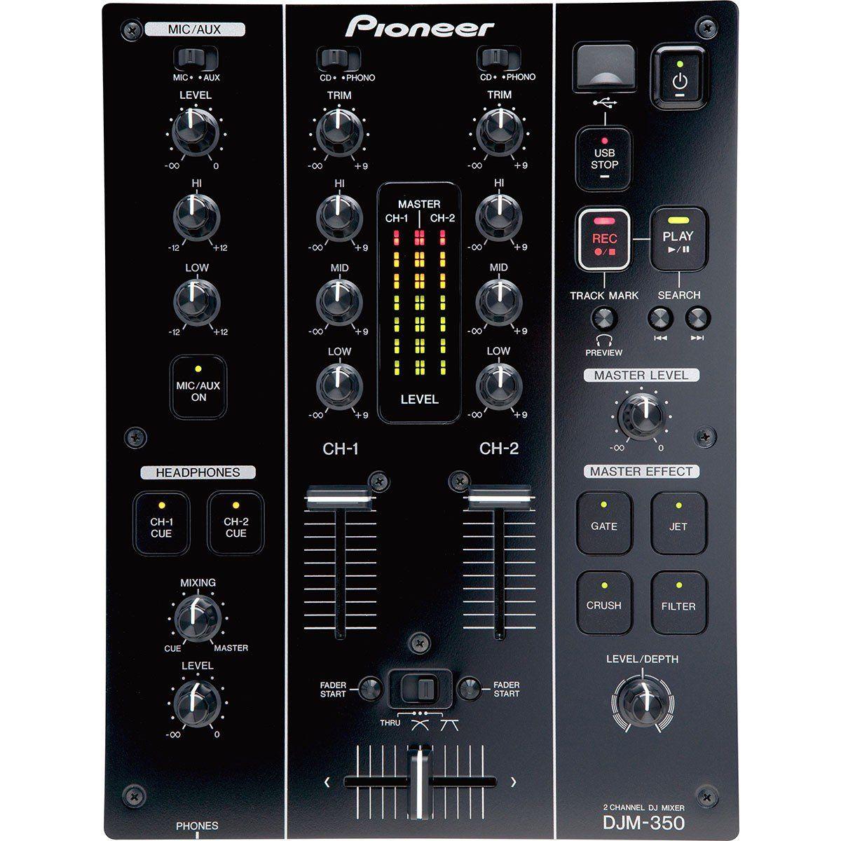 Pioneer DJM-350 Mixer com 2 Canais Pioneer DJM350 para DJ Profissional