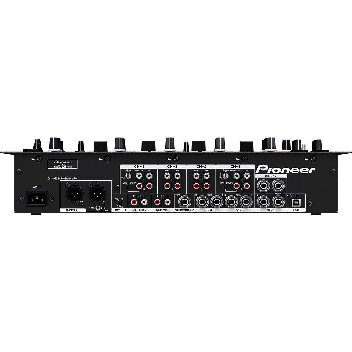 Pioneer DJM-4000 Mixer Pioneer DJM4000 USB com 4 Canais